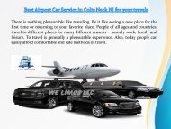 Best Airport Car Service in Colts Neck NJ for your travels