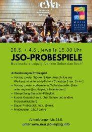 Ausschreibung JSO-Probespiele 2019 | Flyer