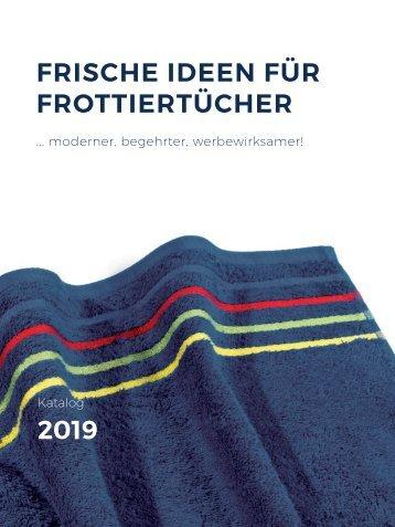 Frische Ideen für Frottiertücher 2019