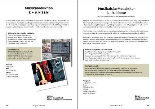 Inspirationskatalog til samarbejder ml. kulturskolen og folkeskolerne
