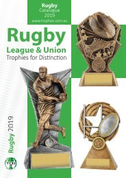Trophies for Distinction - Rugby 2019