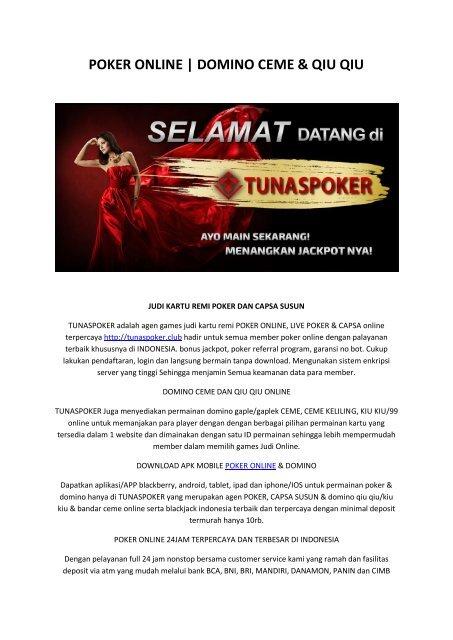 Poker Online Tunaspoker