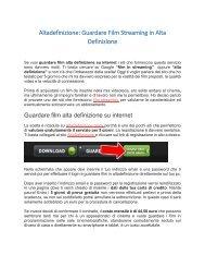 Altadefinizione - Guardare Film Streaming in Alta Definizione