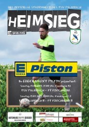 TSV Palmbach Saison 18-19 Heft 13