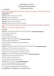 Bộ đề thi học kì, KSCL, kiểm tra 1 tiết, 15 phút Tiếng Anh 10-11-12 có lời giải chi tiết
