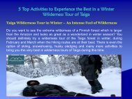 5 Top Activities to Experience the Best in a Winter Wilderness Tour of Taiga