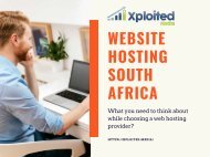 What you need to think about while choosing a web hosting provider?