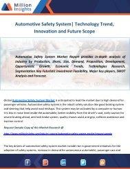 Automotive Safety System Market Technology Trend, Innovation and Future Scope