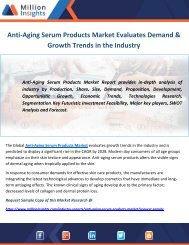 Anti-Aging Serum Products Market Evaluates Demand & Growth Trends in the Industry