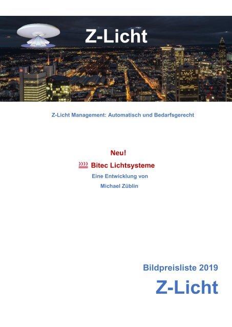 Z-Licht Bildpreisliste Deutschland 2019