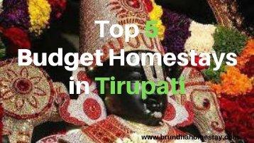Top 5 Budget Homestays in Tirupati