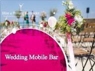 Wedding Mobile Bar Hire in London - Hire a Private Bartender