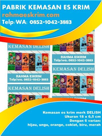 Agen Plastik Es Krim / Telp/WA: 0852-1042-3883