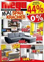 Mai Spar-Kracher: bis zu 44% sparen! mega-Möbel in Schwandorf und Weiden