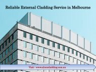 Reliable External Cladding Service in Melbourne