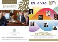 May 19, 2019—CAMA's 100th Birthday Bash—Special Event Program Book