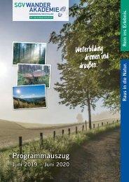 Veranstaltungskalender SGV Wanderakademie NRW 2019-2020
