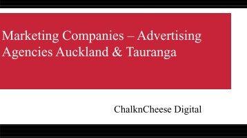 Marketing Companies Based On Auckland And Tauranga