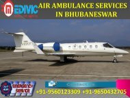 Get Quick Life Support Air Ambulance Services in Bhubaneswar and Chandigarh by Medivic
