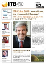 ITB China News 2019 - Day 1 Edition