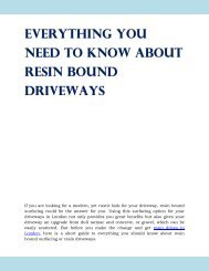 Everything You Need To Know About Resin Bound Driveways