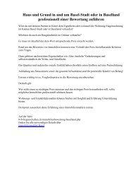 Haus und Grund in und um Basel-Stadt oder in Baselland professionell einer Bewertung zuführen