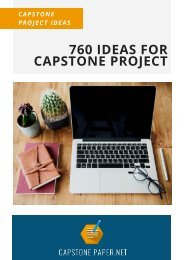 760 Ideas for Capstone Project