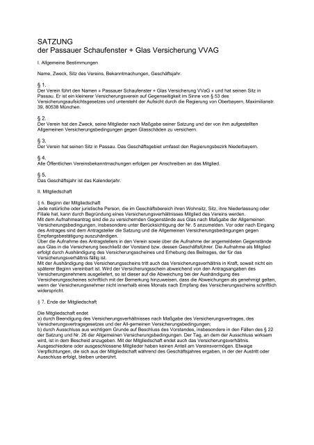 PSV Satzung - Stand 2012