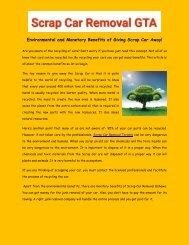 Environmental and Monetary Benefits of Giving Scrap Car Away!