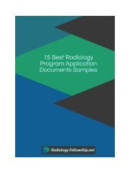 15 Best Radiology Program Application Documents Samples