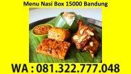 WA 081-322-777-048, Menu Nasi Box 15000 Bandung