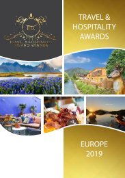 Travel & Hospitality Awards | European Winners 2019 | www.thawards.com