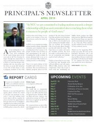 Principal's Newsletter, April 2019