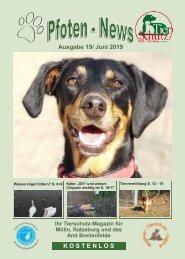 Pfoten-News Ausgabe 19 Juni 2019