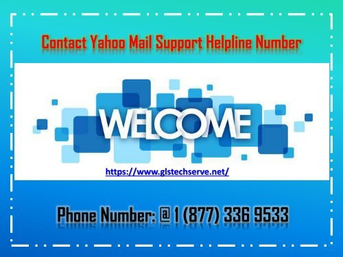 Contact Yahoo Mail Support Helpline Number 1877-503-0107
