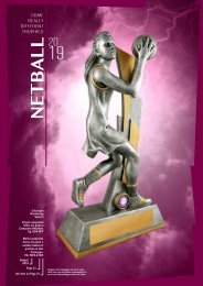 Some Really Different Trophies - Netball 2019
