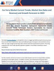 Car Ferry Market Current Trends, Market Size (Sales and Revenue) and Growth Forecasts to 2023