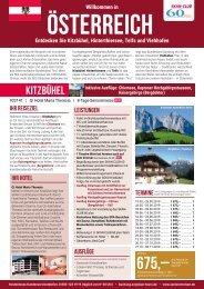 Willkommen in Österreich - Seniorenreisen mit SKAN-TOURS