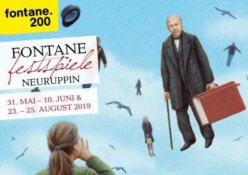 FONTANE-FESTSPIELE 2019 Das Programmheft