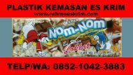 Telp/WA: 0852-1042-3883 Bungkus Plastik Es Krim Stik Bireuen, Aceh