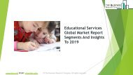 Educational Services Global Market Report 2019