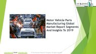 Motor Vehicle Parts Manufacturing Global Market Report 2019