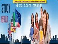 Overseas Admission Consultant in Delhi