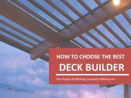 How to Choose the Best Deck Builder?