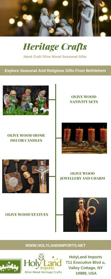 Seasonal And Religious Olive Wood Gifts