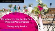 Experience Is the Key for Best Wedding Photographer