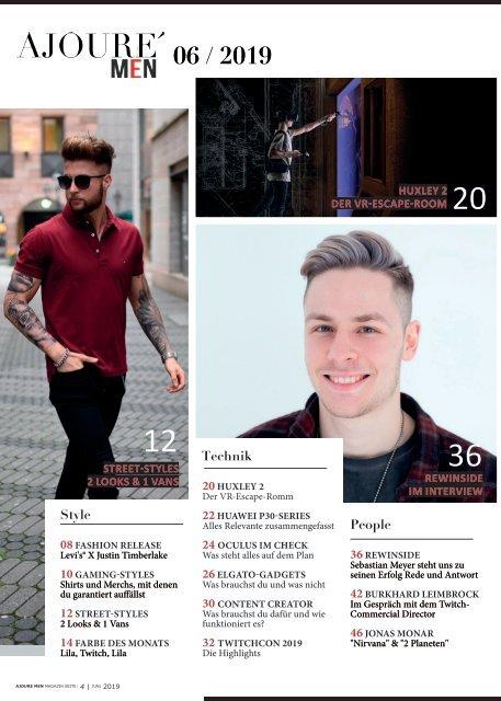 AJOURE´ Men Magazin Juni 2019