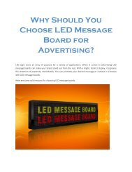 Why Should You Choose LED Message Board for Advertising