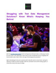 Struggling with Test Data Management Solutions