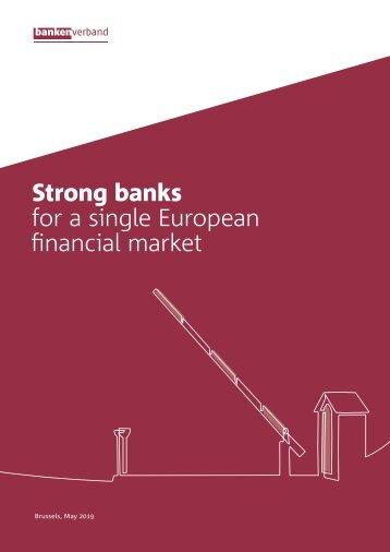 Strong banks for a single European financial market
